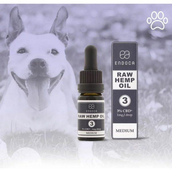 Olejek CBD 3% Endoca dla zwierząt także