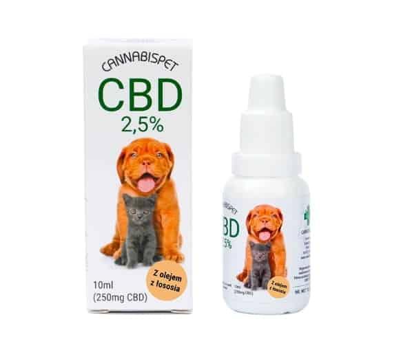 Olejek konopny CBD dla zwierząt 2,5% CannabisPet