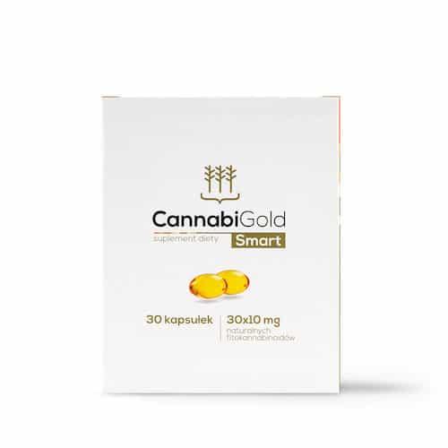 Opakowanie kapsułek z olejkiem konopnym CBD CannabiGold