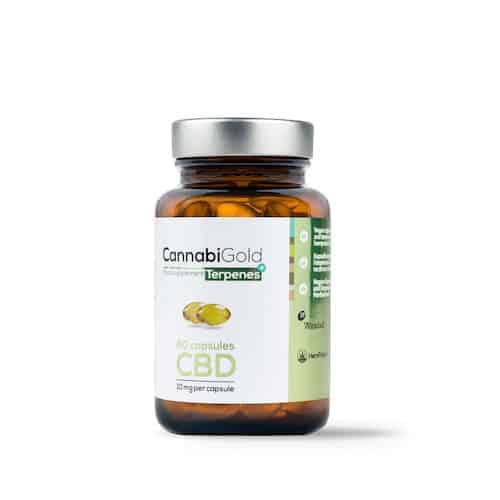 Kapsułki z olejem CBD plus terpeny CannabiGold